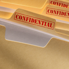 confidential case files