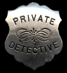 Gumshoe Dectective Agency Badge