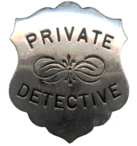 Gumshoe Detective Agency Badge
