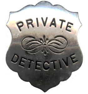 Gumshoe Detective Agency Badge
